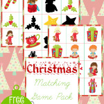 Free Christmas Matching Game Pack