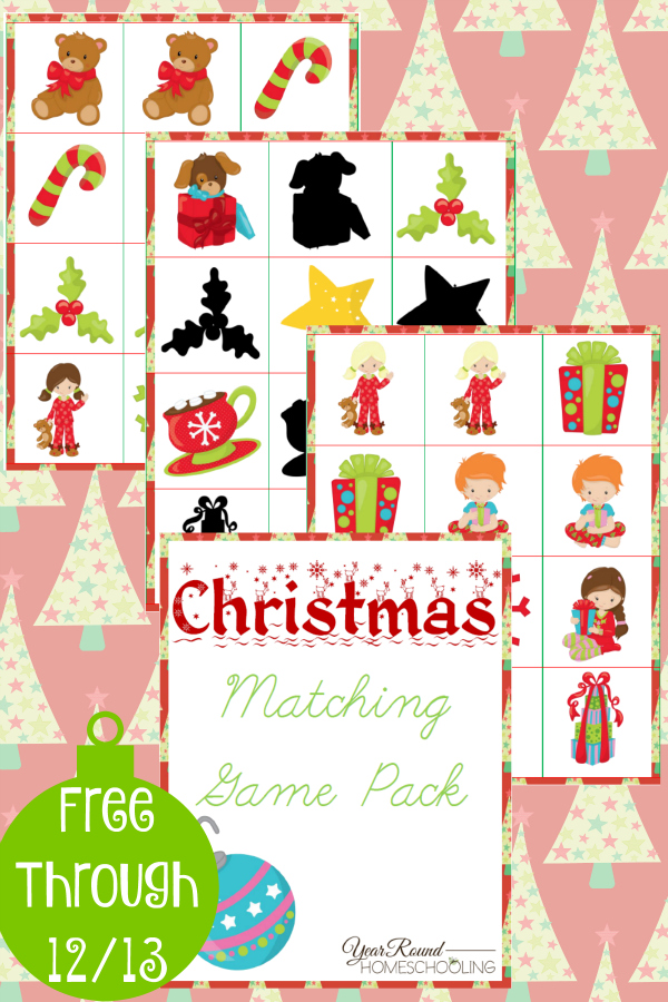Christmas-Matching-Game-Pack-By-Year-Round-Homeschooling