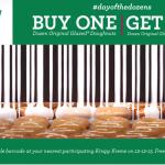 Krispy Kreme: Buy One, Get One Free Doughnuts