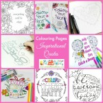 Free Inspirational Quotes Coloring Pages for Adults and Kids