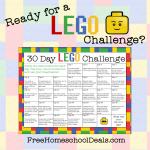 Free 30 Day Lego Challenge Calendar