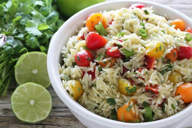 Cilantro-lime Orzo Pasta Salad