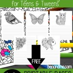 Free Coloring Journal Pages for Teens & Tweens