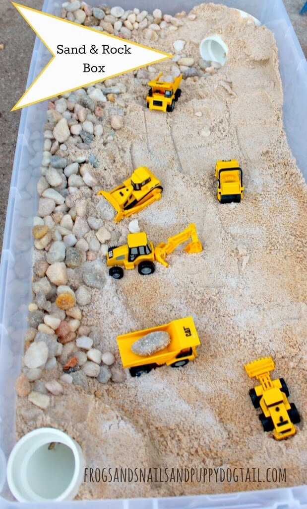 DIY Sand and Rock Box for kids