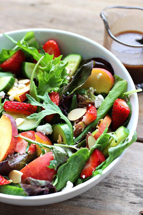 Strawberry-Peach-Salad