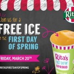 Free Rita's Water Ice {First Day of Spring}