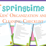 Free Kids Organization & Cleaning Checklist