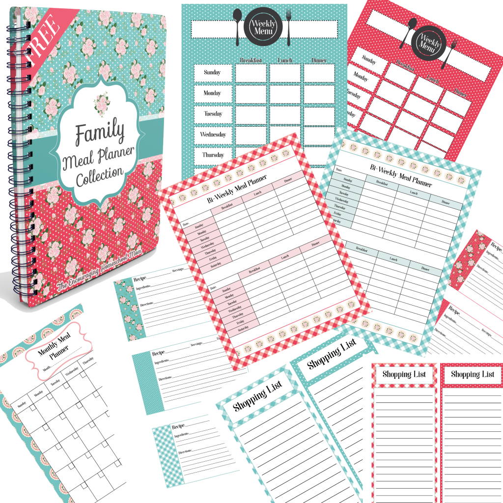 monthly family meal planner