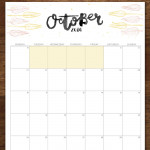 FREE October 2016 Printable Calendar