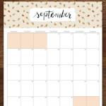 Free Printable September Calendar – My Favorite One!