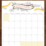 Free November 2016 Printable Calendar